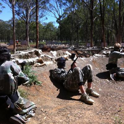 Trench Warfare Paintball Battlefield Map